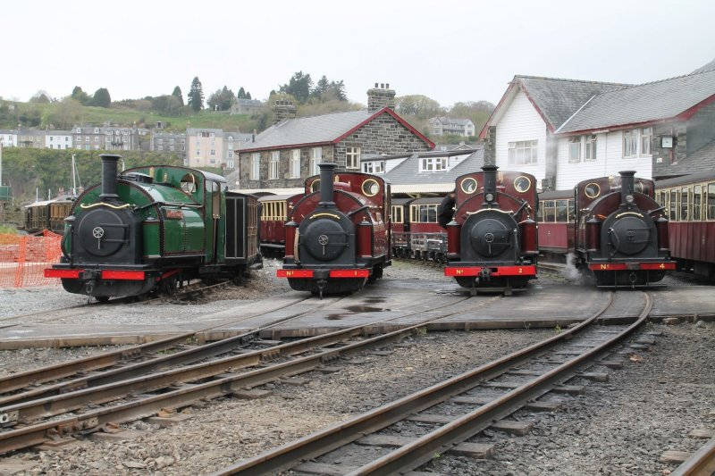 Steam locomotives at Harbour Station Porthmadog
